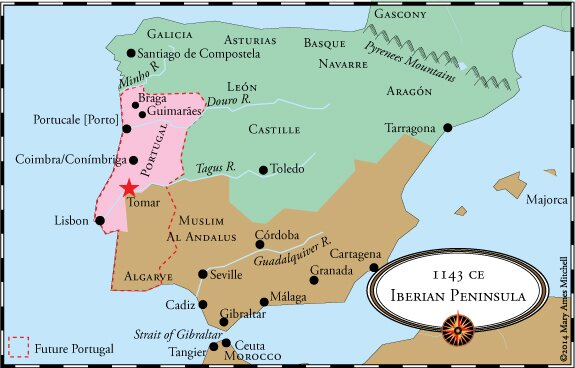 Crossing The Ocean Sea Portugals Independence - Portugal map tomar