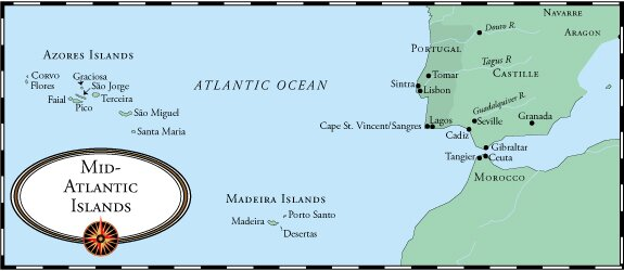 Crossing The Ocean Sea Claiming The Azores - Map portugal madeira azores