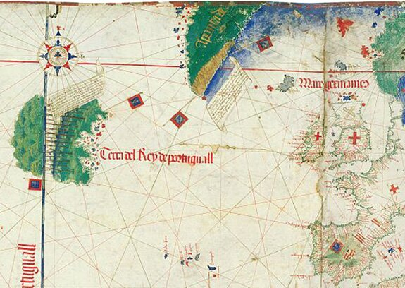 Crossing The Ocean Sea The Terceiran Explorers Corte Real And - Portugal map silver coast