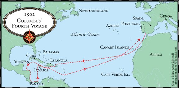 Crossing The Ocean Sea  Columbus Fourth And Final Voyage