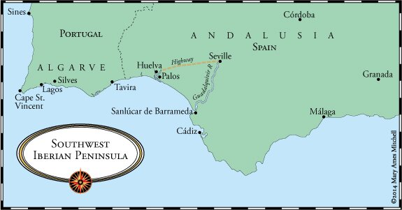Crossing The Ocean Sea The Portuguese Reach Calicut And Abyssinia - Portugal map sines