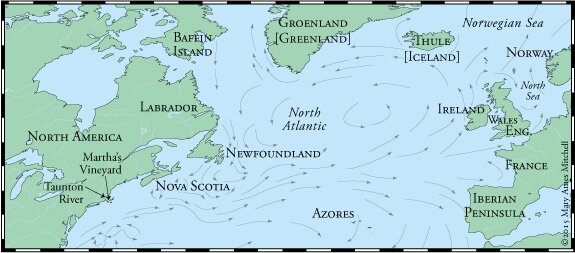 Crossing The Ocean Sea Claiming The Azores - Norway map vikings