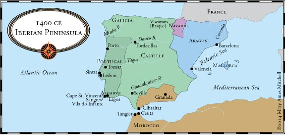 The OttomanHabsburg Struggle And Western European Expansion - Portugal map iberian peninsula